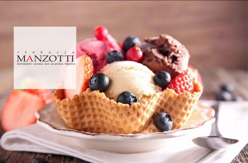 TERRAZZA MANZOTTI offerta gelato artigianale - promozione gelateria artigianale canonica dadda
