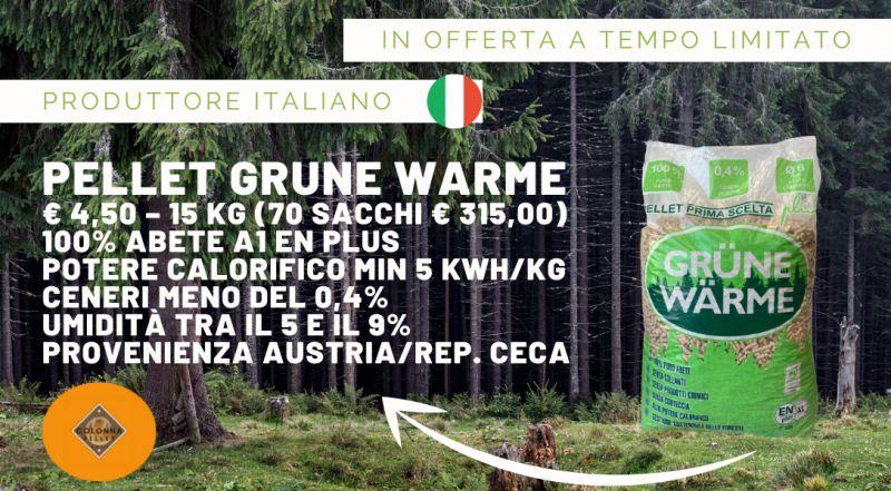 Offerta pellet di abete GRUNE WARME in offerta a Novara a Varese a Verbania a Milano – Occasione vendita pellet scontato prodotto in Italia a Novara a Varese a Verbania a Milano