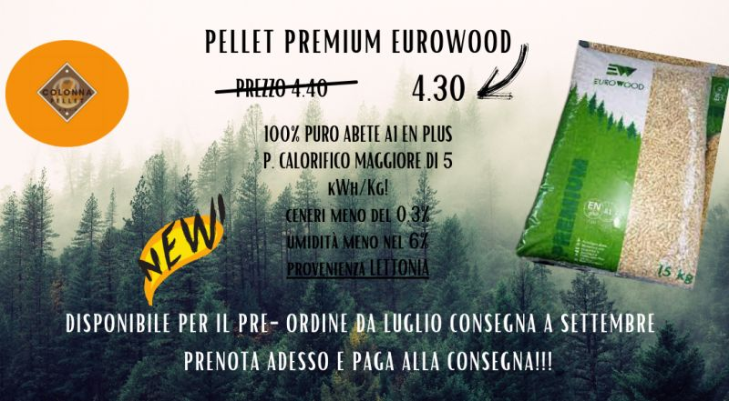 Vendita pellet premium eurowood a Verbania a Novara a Milano a Varese – Occasione pellet di abete in offerta a Verbania a Novara a Milano a Varese