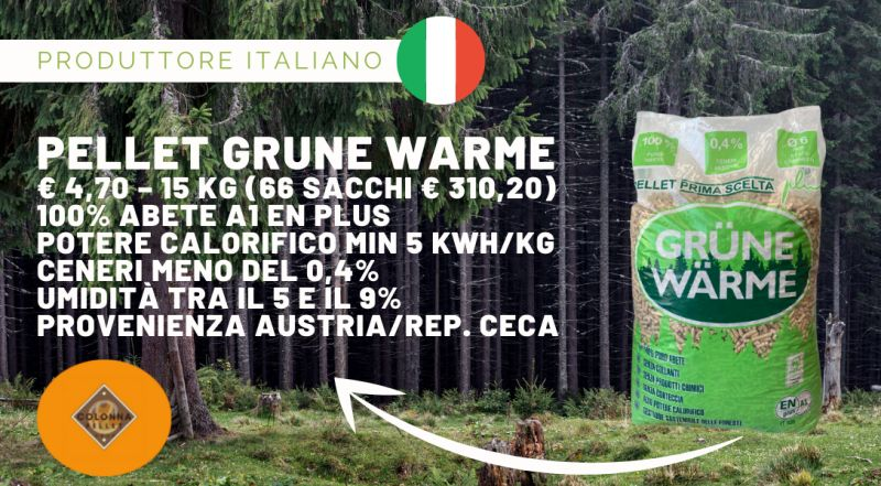 Offerta pellet GRUNE WARME a Novara a Varese a Verbania a Milano – Vendita pellet scontato prodotto in Italia a Novara a Varese a Verbania a Milano