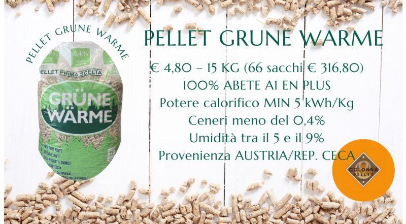 Vendita pellet Grune Warme a Novara a Verbania a Milano a Varese – vendita pellet scontato a Novara a Verbania a Milano a Varese