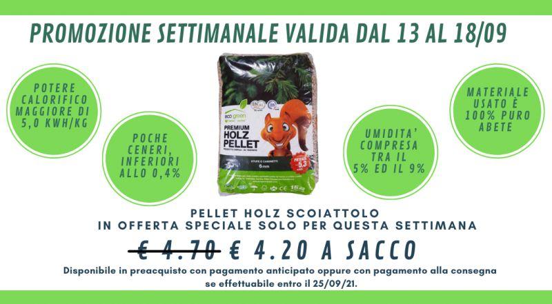 Occasione PELLET HOLZ SCOIATTOLO in offerta a Novara a Milano a Verbania a Vercelli  - offerta pellet di abete scontato a Novara a Milano a Verbania a Vercelli