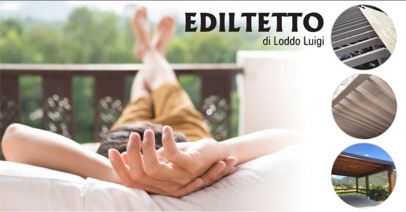 EDILTETTO Lanusei -  offerta realizzazione tettoie e coperture in legno per esterni