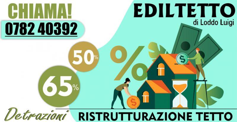 EDILTETTO - offerta ristrutturazione tetto detrazione fiscale 50 e 65 percento