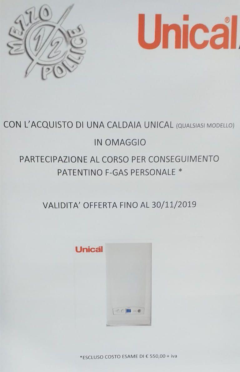 Offerta Caldaia Unical e corso patentino f-gas a Diano Marina - Promozione Mezzo Pollice Imperia