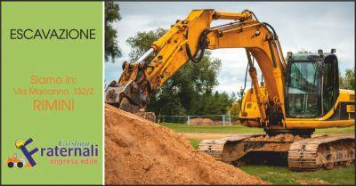 impresa fraternali offerta escavazioni rimini occasione macchine movimento terra rimini