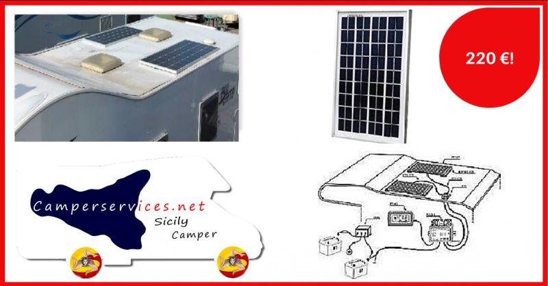 CAMPERSERVICES - offerta vendita e montaggio pannelli solari per camper catania