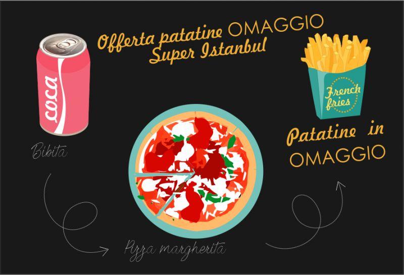 SUPER INSTANBUL offerta menu pizza patatine in omaggio - patatine gratis sesto san giovanni