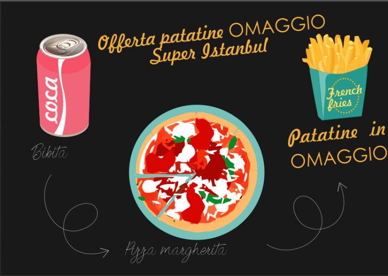 SUPER ISTANBUL offerta menu pizza patatine in omaggio - patatine gratis sesto san giovanni
