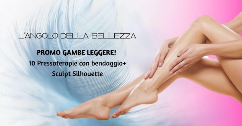 Promozione pressoterapia gambe gonfie Roverbella - offerta trattamento rassodante gambe Mantova