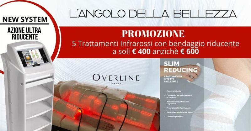 Promozione trattamento professionale infrarossi per cellulite - Offerta bendaggio riducente corpo Mantova
