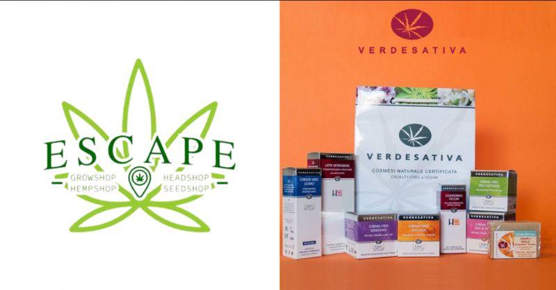 Escape offerta cosmetici e trattamenti specifici alla Canapa sativa Aprilia