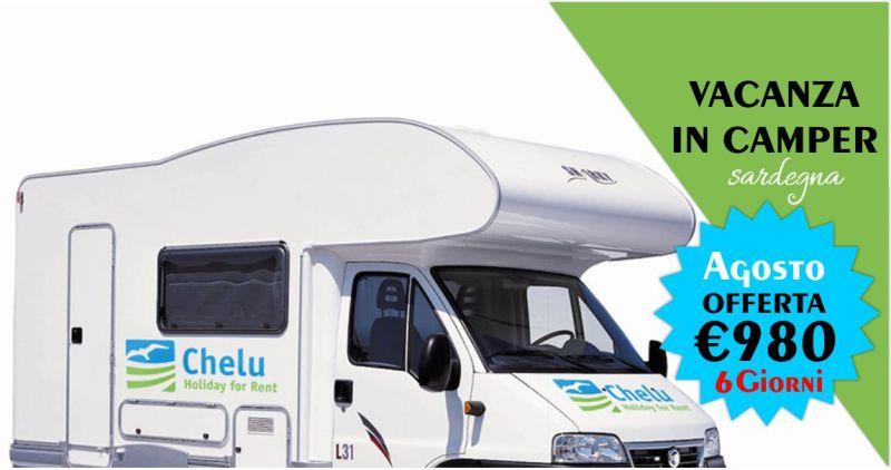 CHELU - offerta noleggio camper Agosto Vacanza in Sardegna 6 giorni