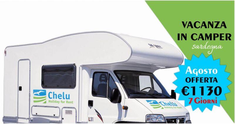 CHELU - offerta noleggio camper Agosto Vacanza in Sardegna 7 giorni