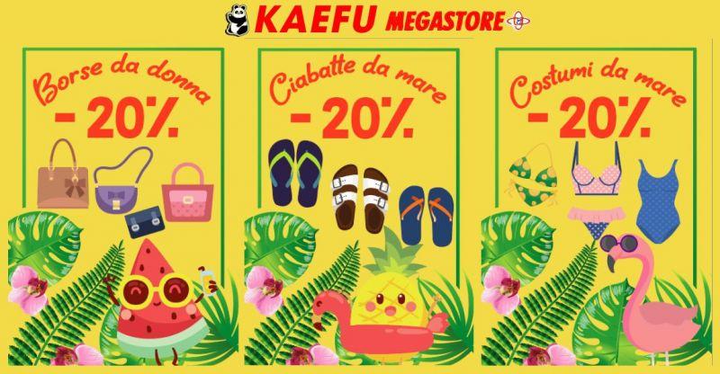 NEW KAEFU MEGASTORE SALDI ESTIVI - OFFERTA BORSE DONNA CIABATTE MARE COSTUMI DA BAGNO