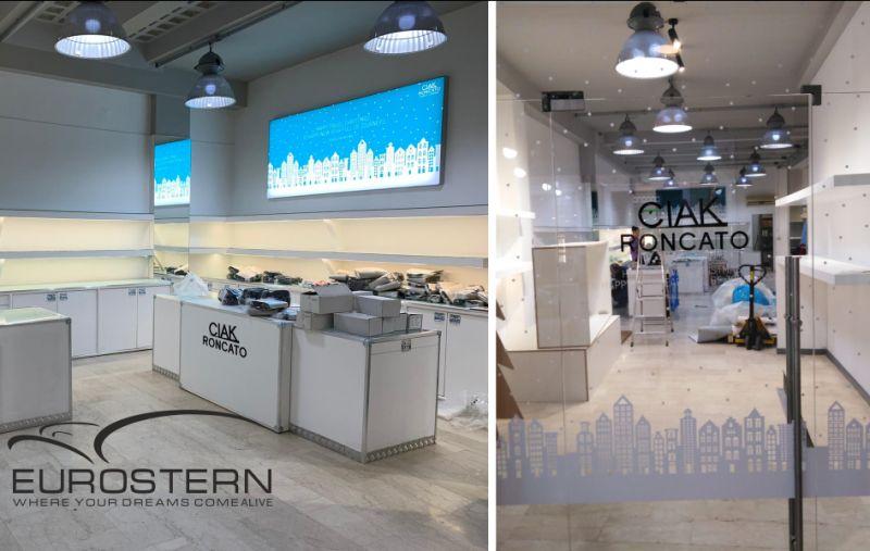 EUROSTERN offerta personalizzazione vetrofanie – promozione adesivi vetrine sabbiati