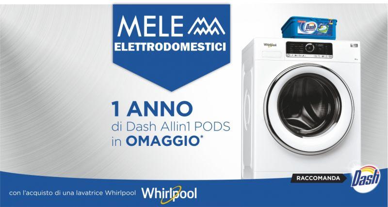 MELE ELETTRODOMESTICI Sassari - promozione lavatrice Whirlpool in omaggio Dash Pods