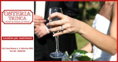 offerta ristoranti per matrimonio albano laziale trova dove festeggiare il matrimonio a roma