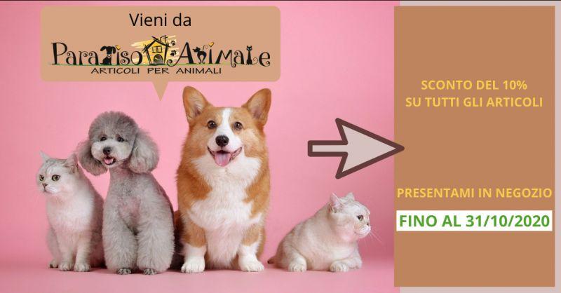 PARADISO ANIMALE - Offerta vendita prodotti per animali scontati roma marconi