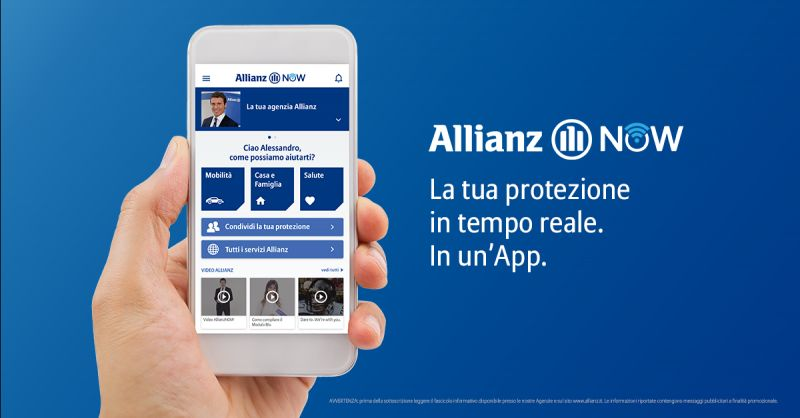 offerta applicazione smartphone assicurazione allianz - occasone Allianz Now app download