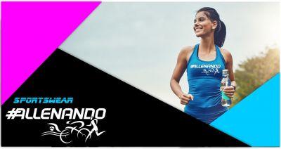 allenando offerta canotta sportiva fluo personalizzata running fitness
