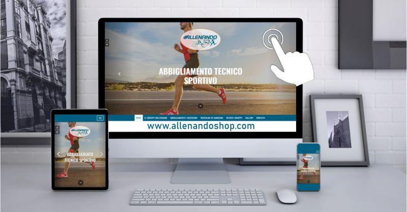 ALLENANDO shop online - offerta abbigliamento tecnico sportivo e accessori personalizzati