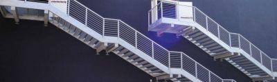 st ponteggi offerta realizzazione scale in metallo provvisorie rimovibili telescopiche toscana