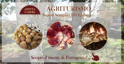 agriturismo sapori semplici d ogliastra offerta menu ferragosto 2019