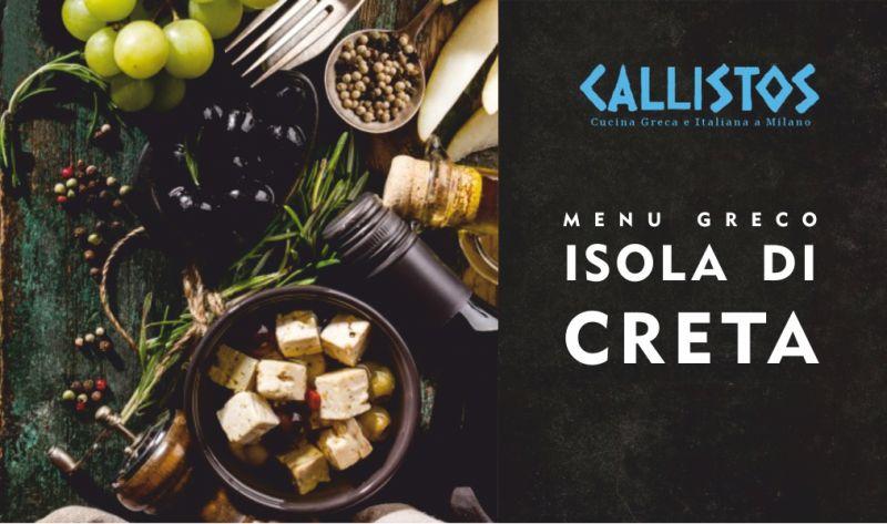 RISTORANTE CALLISTOS offerta menu cucina greca prezzo fisso pranzo - promozione piatto unico