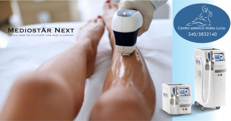 MARIA LUCIA PIRAS - promozione trattamento professionale epilazione laser diodo Mediostar Next