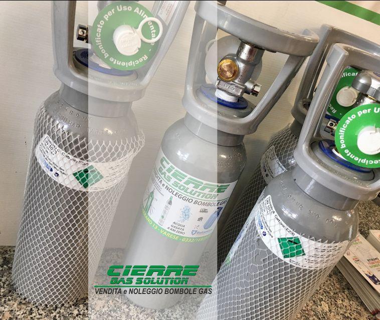 CIERRE GAS SOLUTION vendita bombola anidride carbonica spillatura bevande - noleggio co2