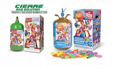cierre gas solution vendita bombole di gas elio promozione kit bombola per palloncini feste