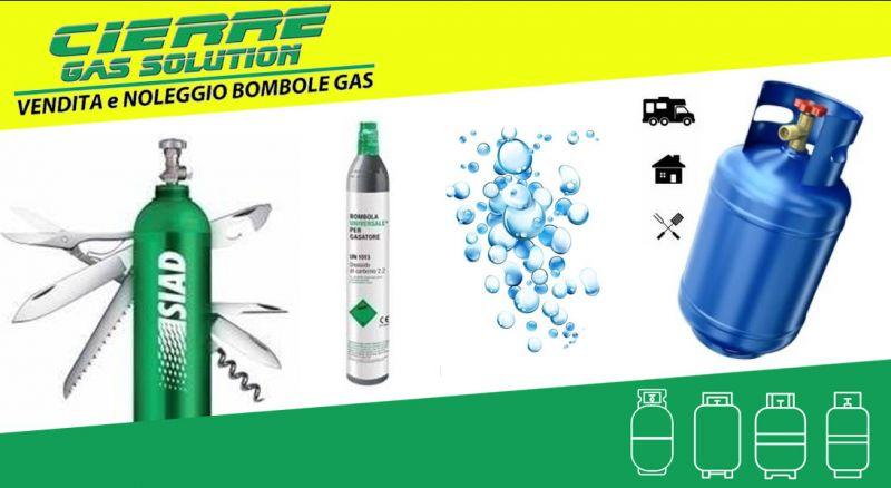 CIERRE GAS SOLUTION- offerta VENDITA e noleggio BOMBOLE GAS - PROMOzione NOLEGGIO BOMBOLE per uso industriale