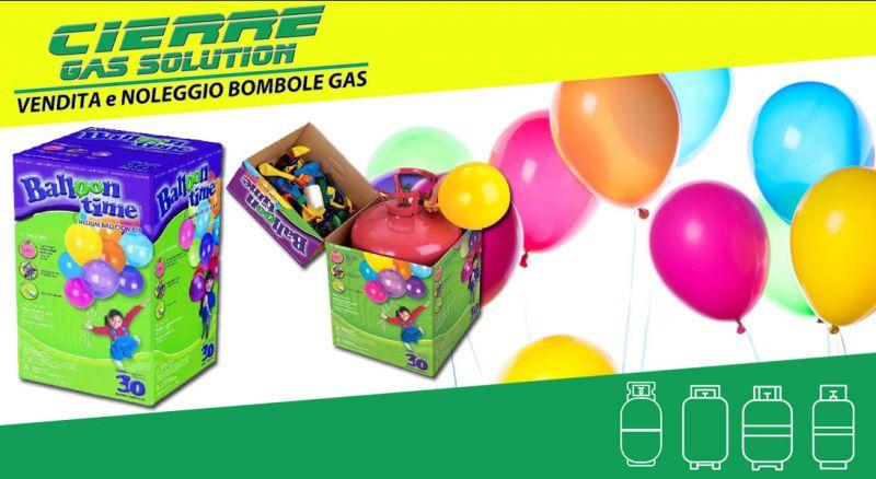 CIERRE GAS SOLUTION - offerta BOMBOLE DI GAS ELIO - PROMOZIONE bombola gas elio per palloncini