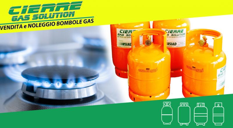 CIERRE GAS SOLUTION - offerta noleggio bombole gas per uso industriale – promozione noleggio bombole CO2 per uso domestico