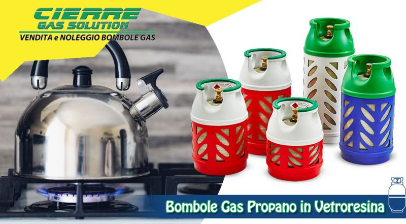 Offerta bombole gas propano in vetroresina varese - promozione bombole gas propano per uso commerciale varese