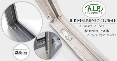 serramenti e infissi a l p offerta finestre simar pvc interamente rivestite effetto legno naturale