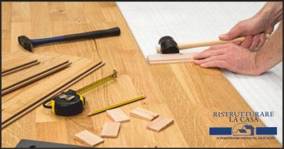 ristrutturare la casa offerta messa in posa parquet flottante occasione lucidatura pavimenti