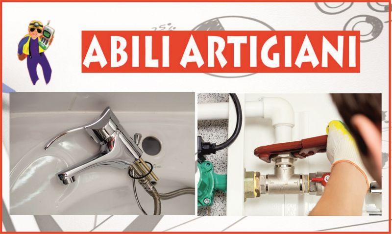 promozione pronto intervento idraulico e riparazioni perdite d'acqua - ABILI ARTIGIANI