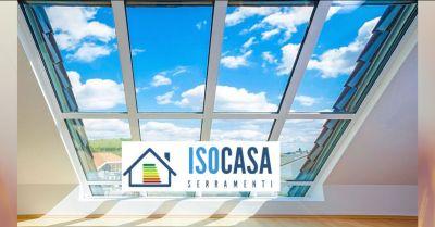 occasione vendita infissi pvc e alluminio per la realizzazione dei serramenti iso case