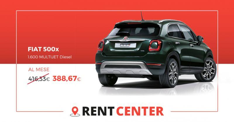 RENT CENTER - offerta noleggio lungo termine FIAT 500x 1.600 MULTIJET Diesel rivoli Torino