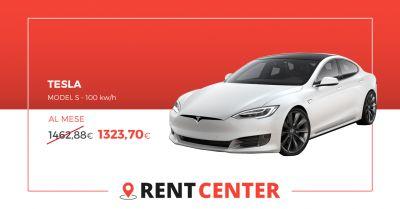 rentcenter offerta tesla model s 100 kwh noleggio a lungo termine rivoli torino