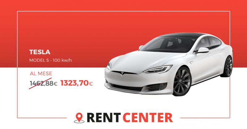 Rentcenter - offerta Tesla model S 100 kWh noleggio a lungo termine rivoli torino