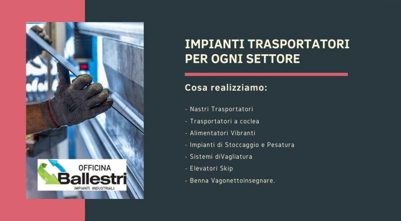 Vendita realizzazione impianti trasportatori alimentare a Modena – Offerta nastri trasportatori a Modena