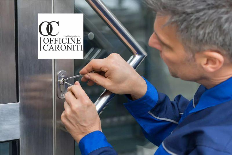OFFICINE CARONITI offerta emergenza fabbro - promozione intervento urgente sblocco serrature