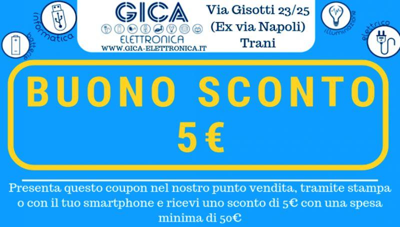 gica elettronica offerta materiale elettrico trani - coupon illuminotecnica