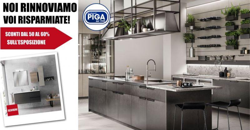PIGA ARREDAMENTI GUSPINI - offerta su cucine living e bagni Scavolini in esposizione