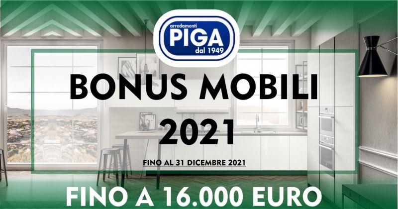 PIGA ARREDAMENTI GUSPINI - promozione bonus mobili 2021 detrazioni