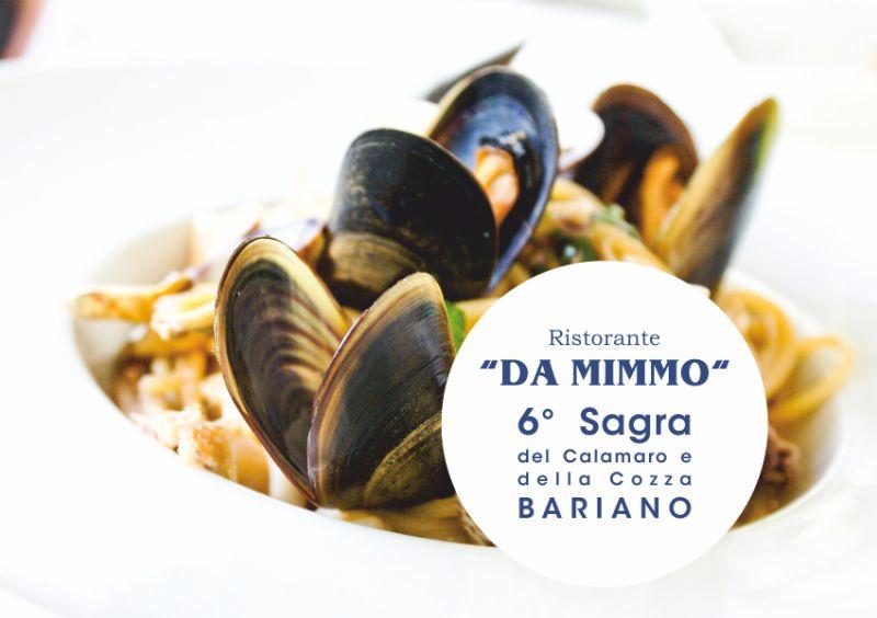 RISTORANTE PIZZERIA DA MIMMO BARIANO sagra del calamaro e della cozza - musica dj karaoke
