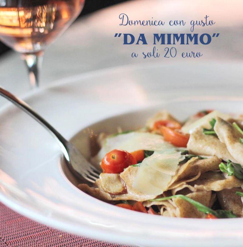 RISTORANTE PIZZERIA DA MIMMO BARIANO menu fisso domenica a pranzo - domenica sera menu pesce